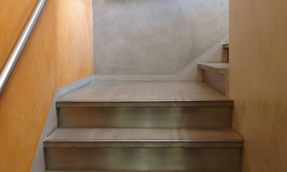 woonbeton op de trap