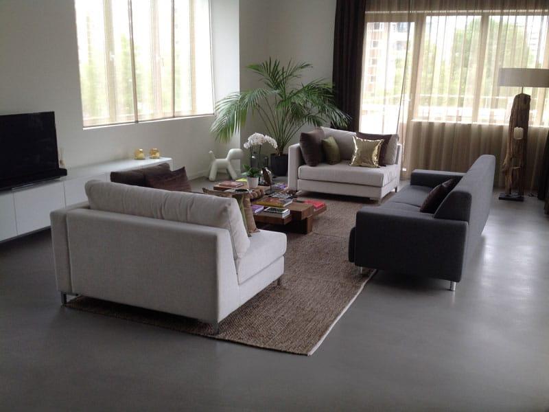 stijlvol woonbeton in de woonkamer