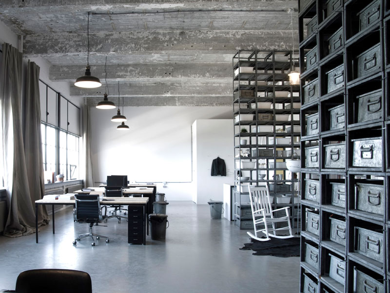 moderne gietvloer kantoorruimte