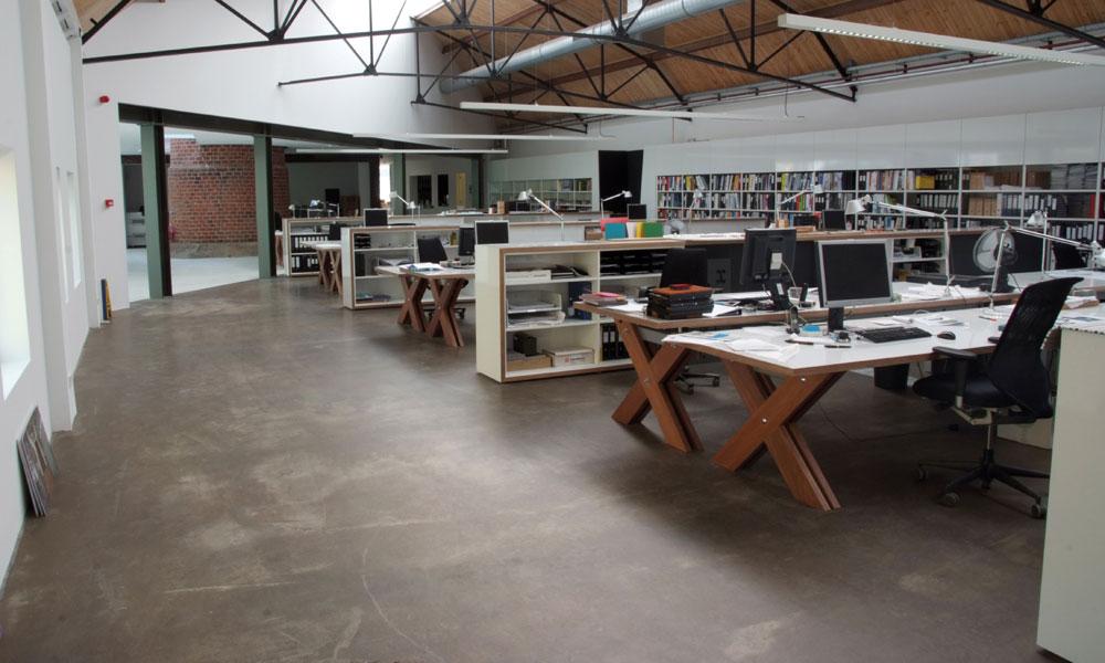 cementgebonden gietvloer bibliotheek