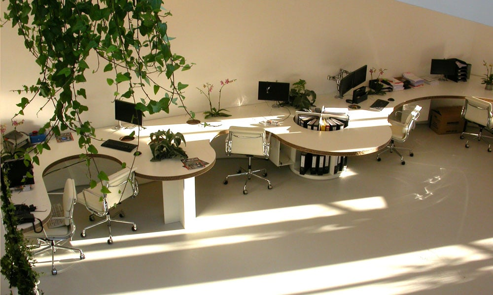 gietvloer moderne kantooruimte
