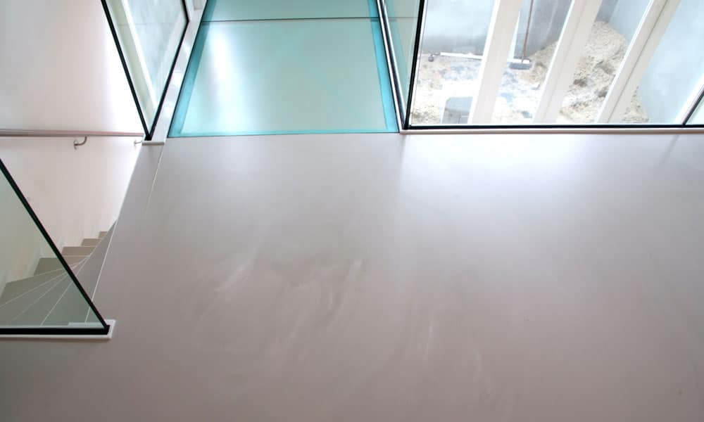 microcement in moderne woning