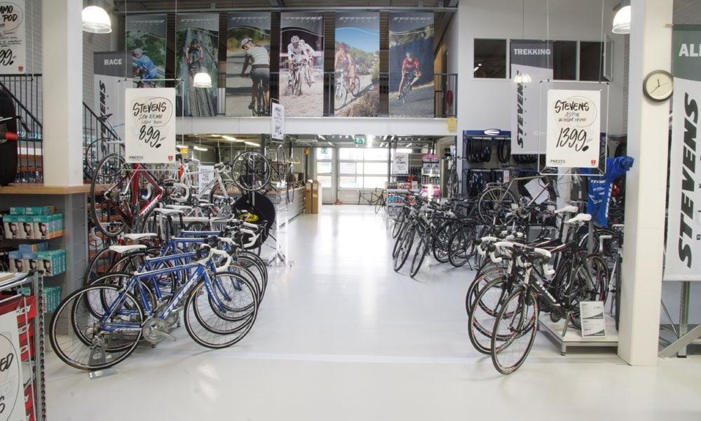 esd vloer fietsenwinkel