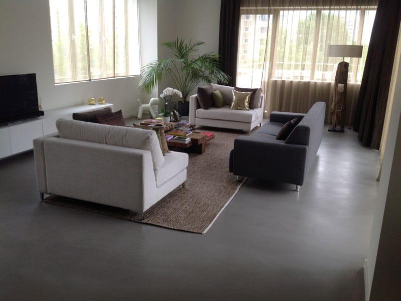 moderne woonbeton vloer woonkamer